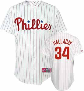Philadelphia Phillies Roy Halladay YOUTH Replica Player Jersey - Small