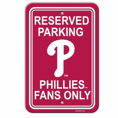 Philadelphia Phillies Plastic Parking Sign (P)