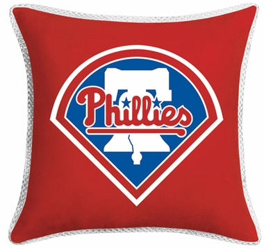 Philadelphia Phillies SIDELINES Jersey Material Toss Pillow
