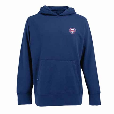 Philadelphia Phillies Mens Signature Hooded Sweatshirt (Color: Royal)