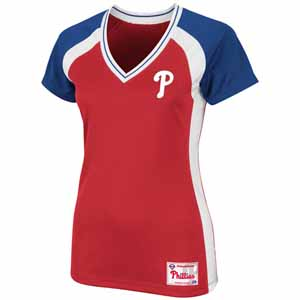 Philadelphia Phillies Womens Opal V-Neck Top - X-Large