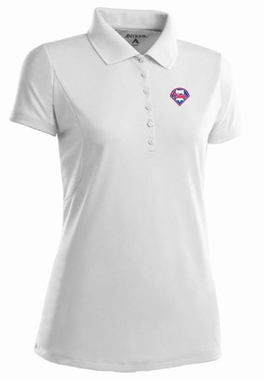 Philadelphia Phillies Womens Pique Xtra Lite Polo Shirt (Color: White)