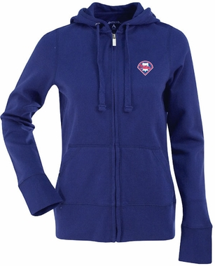Philadelphia Phillies Womens Zip Front Hoody Sweatshirt (Color: Blue)