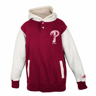 Philadelphia Phillies Youth Adidas Vintage Hooded Sweatshirt