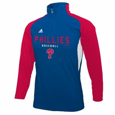 Philadelphia Phillies Youth L/S 1/4 Zip Performance Shirt