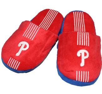 Philadelphia Phillies YOUTH Team Stripe Slide Slippers-Large