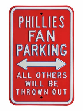 Phillies/Thrown Out Parking Sign