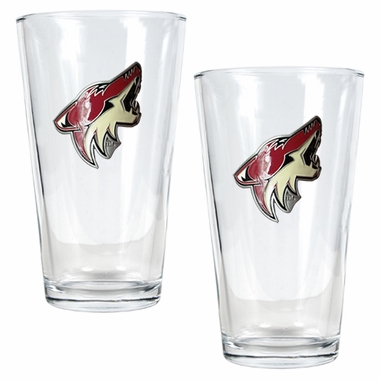 Arizona Coyotes 2 Piece Pint Glass Set