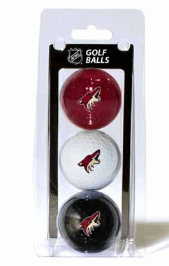 Arizona Coyotes Set of 3 Multicolor Golf Balls