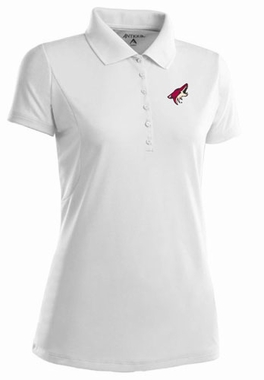 Arizona Coyotes Womens Pique Xtra Lite Polo Shirt (Color: White)