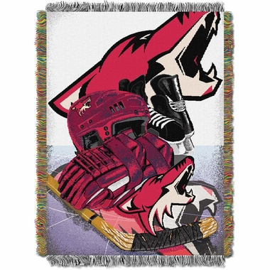 Arizona Coyotes Woven Tapestry Blanket