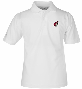 Arizona Coyotes YOUTH Unisex Pique Polo Shirt (Color: White)