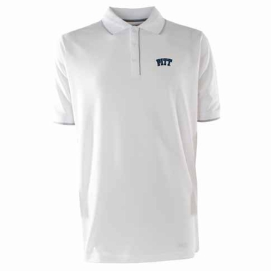 Pitt Mens Elite Polo Shirt (Color: White)