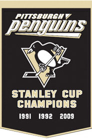 """Pittsburgh Penguins 24""""x36"""" Dynasty Wool Banner"""
