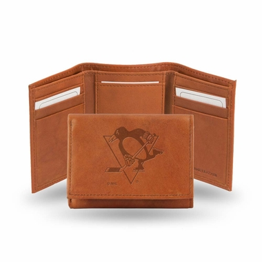 Pittsburgh Penguins Embossed Leather Trifold Wallet