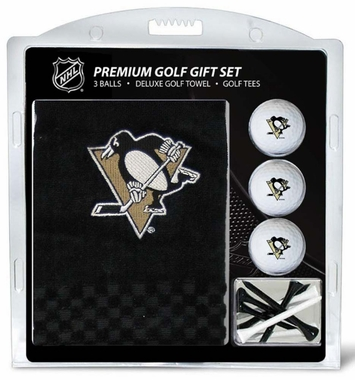 Pittsburgh Penguins Embroidered Towel Golf Gift Set