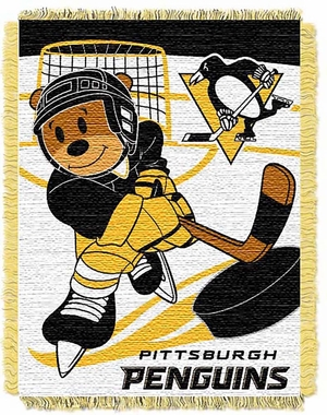 Pittsburgh Penguins Jacquard BABY Throw Blanket