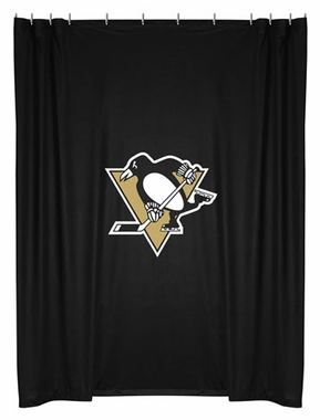 Pittsburgh Penguins Jersey Material Shower Curtain