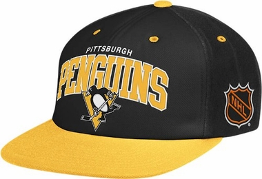 Pittsburgh Penguins Retro Arch Snapback Hat