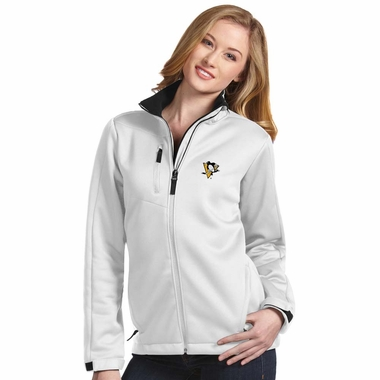 Pittsburgh Penguins Womens Traverse Jacket (Color: White)