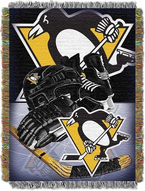 Pittsburgh Penguins Woven Tapestry Blanket