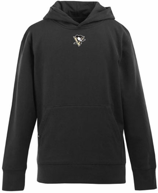 Pittsburgh Penguins YOUTH Boys Signature Hooded Sweatshirt (Color: Black)