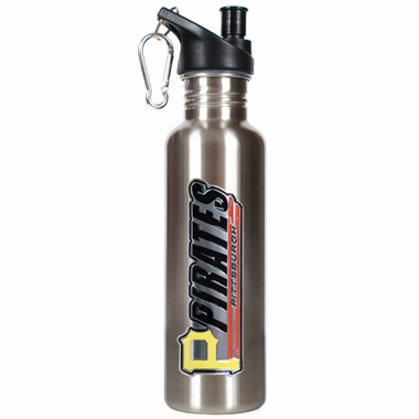 Pittsburgh Pirates 26oz Stainless Steel Water Bottle (Silver)