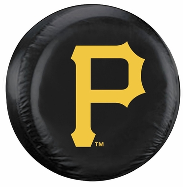 Pittsburgh Pirates Black Tire Cover - Standard Size