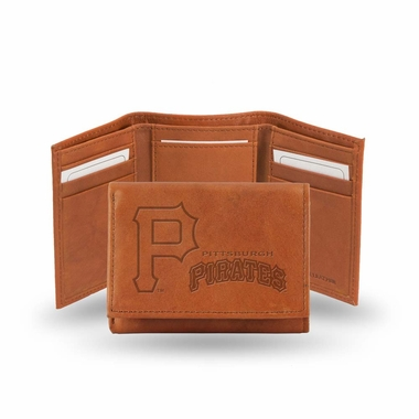 Pittsburgh Pirates Embossed Leather Trifold Wallet