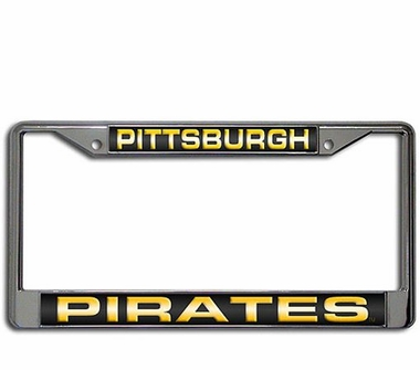 Pittsburgh Pirates Laser Etched Chrome License Plate Frame