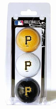 Pittsburgh Pirates Set of 3 Multicolor Golf Balls
