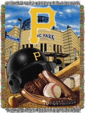 Pittsburgh Pirates Woven Tapestry Throw Blanket