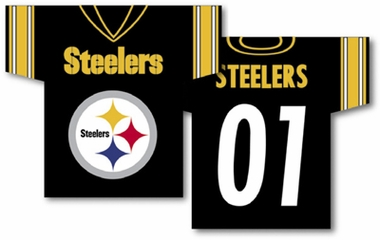 Pittsburgh Steelers 2 Sided Jersey Banner Flag (F)