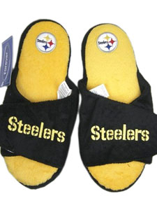 Pittsburgh Steelers 2011 Open Toe Hard Sole Slippers - Large