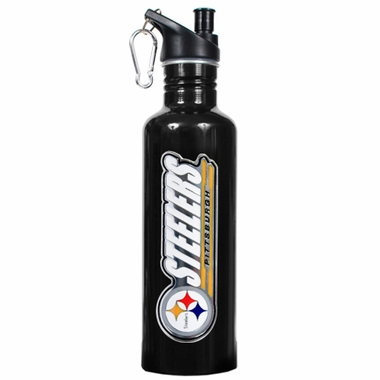 Pittsburgh Steelers 26oz Stainless Steel Water Bottle (Black)