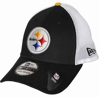 Pittsburgh Steelers 39THIRTY Double Up Stretch Fitted Hat