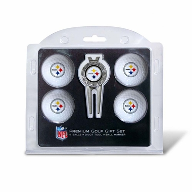 Pittsburgh Steelers 4 Ball and Divot Tool Set
