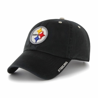 Pittsburgh Steelers 47 Brand NFL Clean Up Ice Adjustable Hat - Black