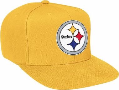Pittsburgh Steelers Basic Logo Snap Back Hat (Gold)