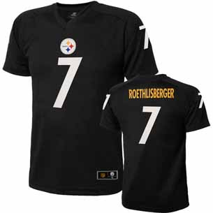 Pittsburgh Steelers Ben Roethlisberger Youth Performance T-shirt - Medium
