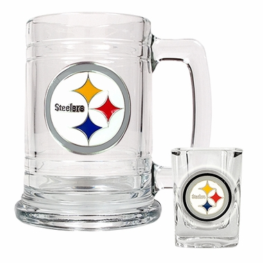 Pittsburgh Steelers Boilermaker Set