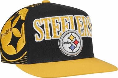 Pittsburgh Steelers Double Graphic Laser Stitched Snap Back Hat