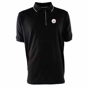 Pittsburgh Steelers Mens Elite Polo Shirt (Color: Black) - X-Large