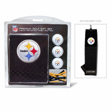 Pittsburgh Steelers Embroidered Towel Golf Gift Set