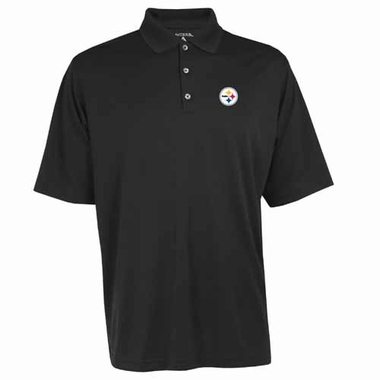 Pittsburgh Steelers Mens Exceed Polo (Color: Black)