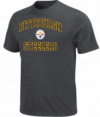 Pittsburgh Steelers Heart & Soul II Charcoal T-Shirt