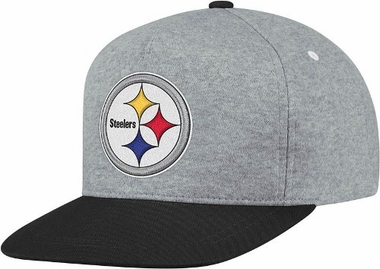 Pittsburgh Steelers Heather Pinch Panel Snap Back Hat