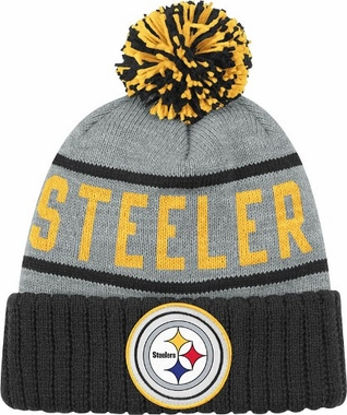Pittsburgh Steelers High 5 Vintage Cuffed Pom Hat