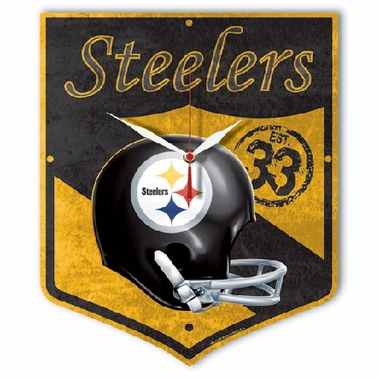 Pittsburgh Steelers High Definition Wall Clock (Vintage)
