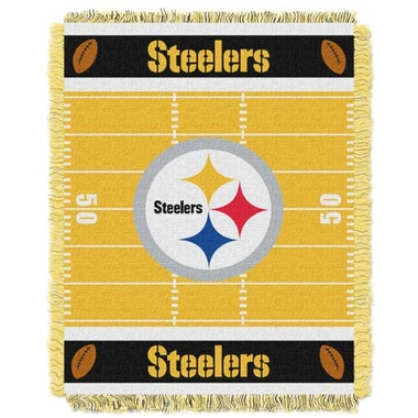 Pittsburgh Steelers Jacquard BABY Throw Blanket